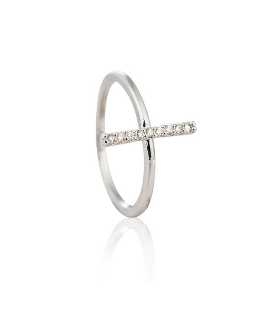 Astrid & Miyu - Metallic Chase Me Midi Ring In Silver - Lyst
