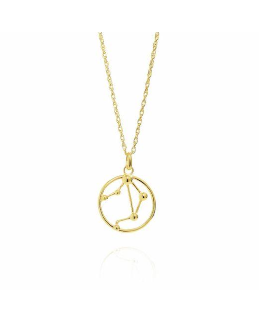 Yasmin Everley Jewellery - Metallic Libra Astrology Necklace In 9ct Gold - Lyst