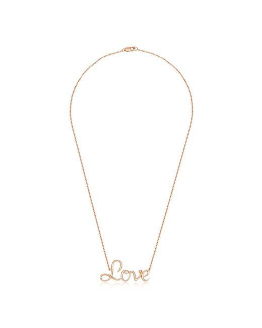 Alexandra Alberta | Metallic Alexandra Love Necklace | Lyst