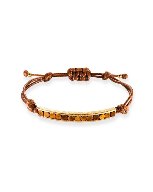 Ona Chan Jewelry | Brown Corded Bracelet With With Tiger's Eye | Lyst