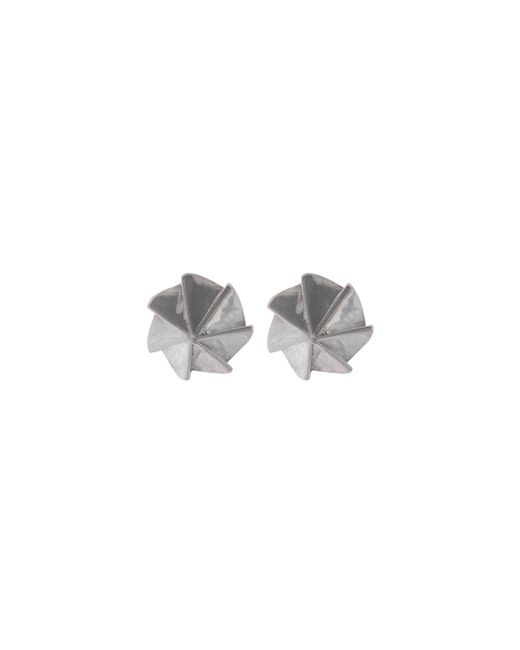 Edge Only - Metallic Countersink Earrings Silver - Lyst