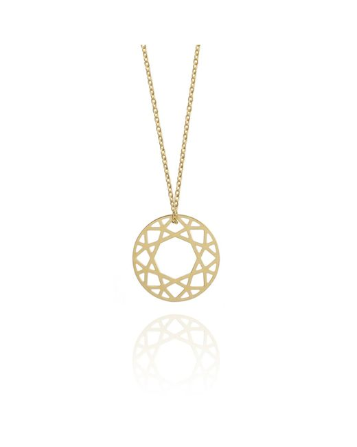 Myia Bonner | Metallic Small Gold Brilliant Diamond Necklace | Lyst