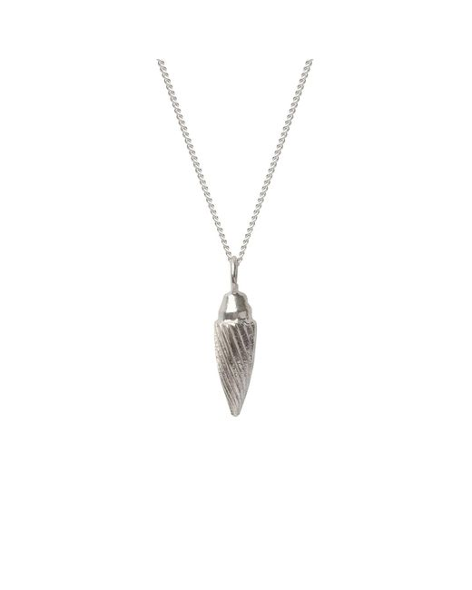Edge Only | Metallic Spiral Drop Necklace In Silver | Lyst