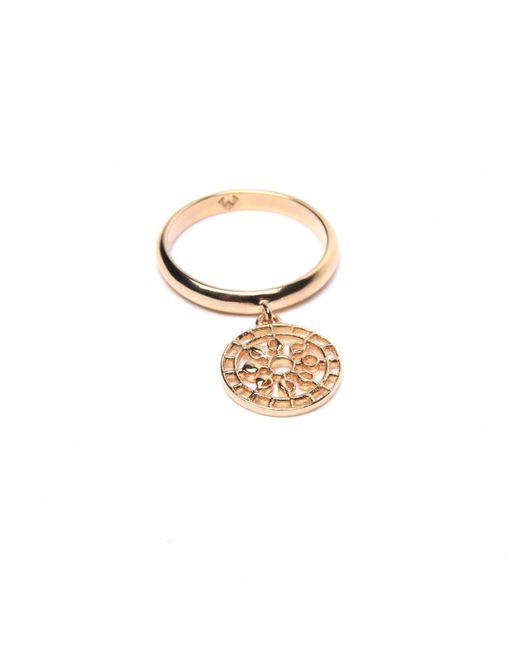 Puck Wanderlust   Metallic Gold Mini Moon Mandala Charm Ring   Lyst
