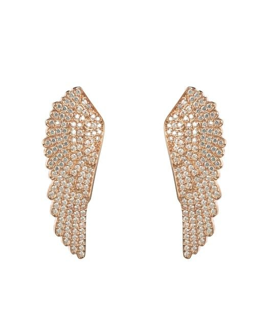 Latelita London | Metallic Large Angel Wing Earring Rosegold | Lyst