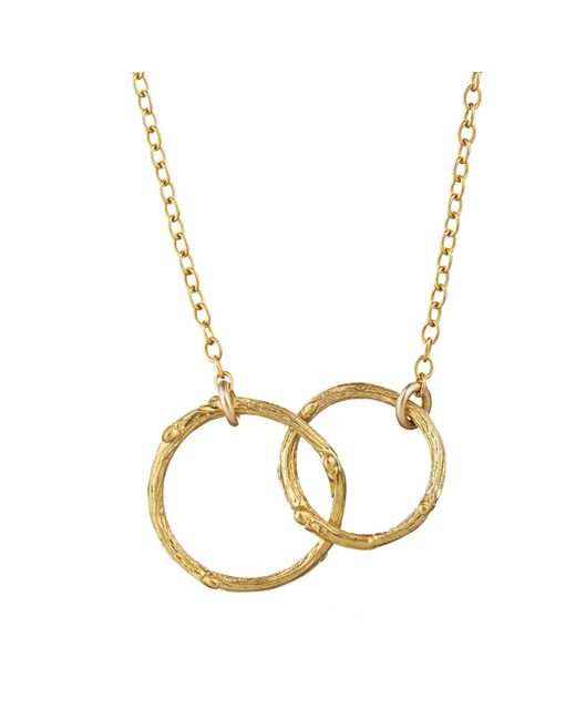 Chupi | Metallic Just The Two Of Us Hawthorn Twig Circle Necklace In Gold | Lyst