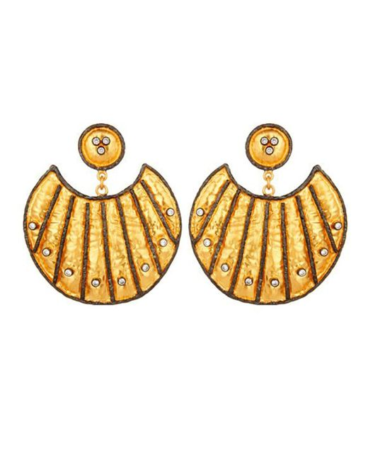 Carousel Jewels - Metallic Heritage Gold And Crystal Statement Earrings - Lyst