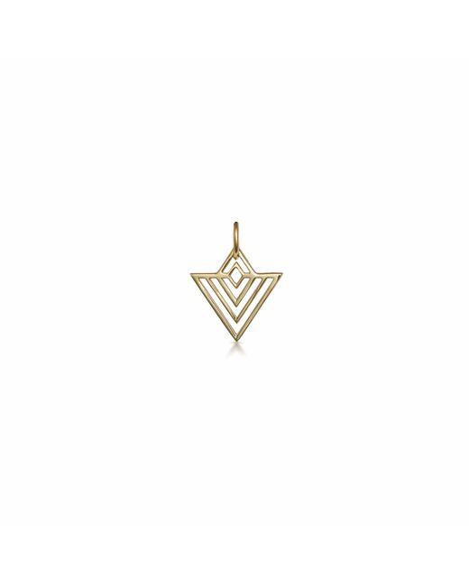 One and One Studio - Metallic Gold Art Deco Triangle Pendant - Lyst