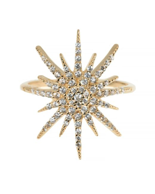 Talia Naomi | Metallic Supernova Ring | Lyst