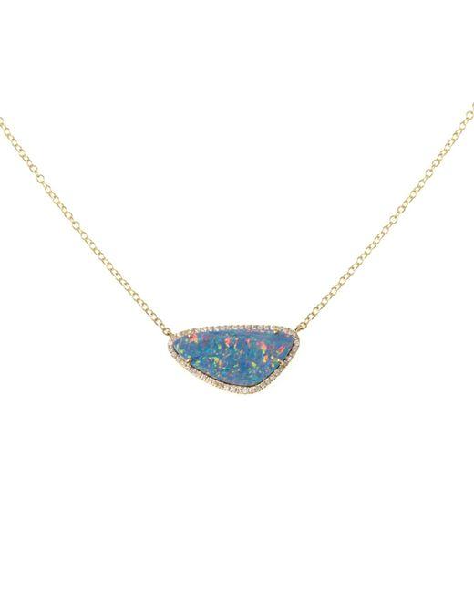 Ri Noor - Metallic Opal Slice Gold Necklace - Lyst