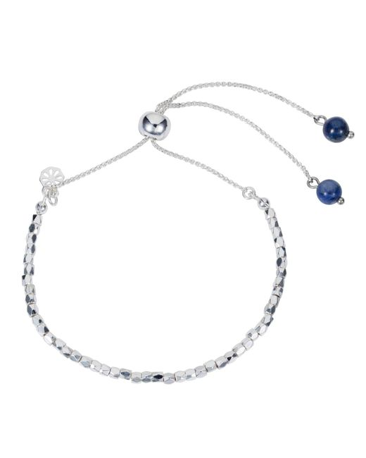 Nadia Minkoff - Friendship Bracelet Silver With Blue Lapis - Lyst