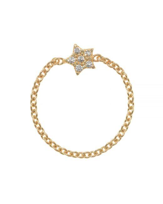 Talia Naomi | Metallic Wish Upon A Star Chain Ring | Lyst