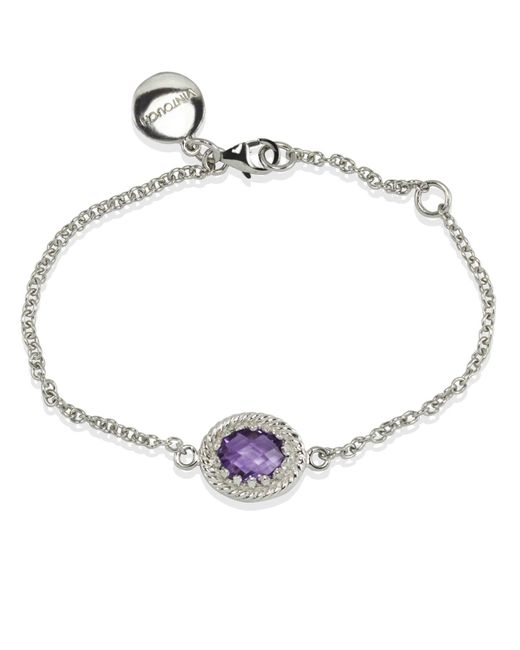 Vintouch Italy | Metallic Luccichio Amethyst Bracelet | Lyst