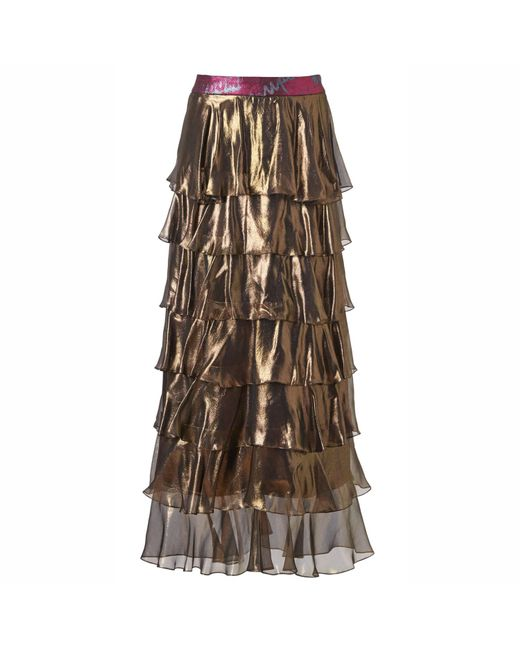 Supersweet x Moumi - Metallic Gold Foiled Genie Skirt - Lyst