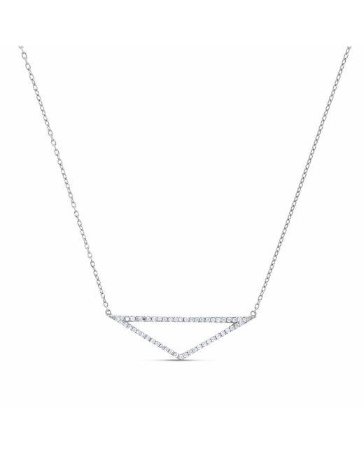 Cosanuova | Metallic Triangle Diamond Necklace 18k White Gold | Lyst