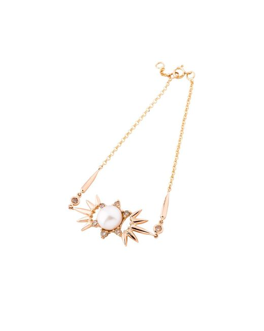 Joana Salazar | Metallic Spike Pearl Bracelet | Lyst