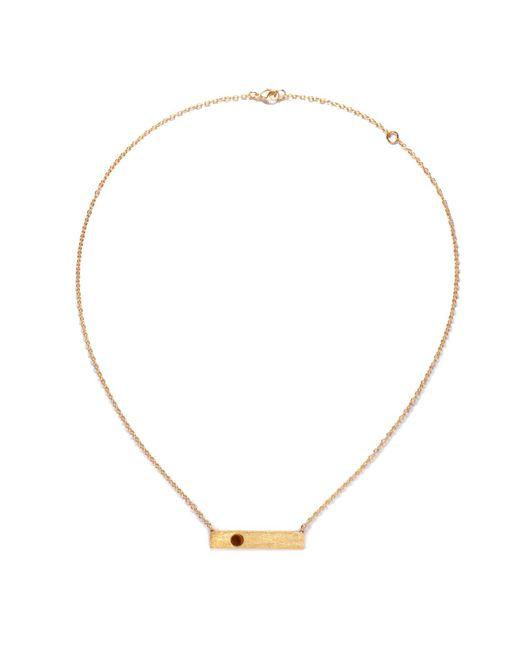 Ona Chan Jewelry | Metallic Horizontal Necklace With Single Stone Tiger's Eye | Lyst