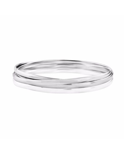 Auree Jewellery - Metallic Knightsbridge Sterling Silver Russian Wedding Bangle - Lyst