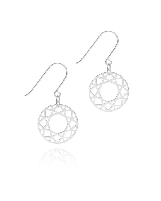 Myia Bonner - Metallic Silver Brilliant Diamond Drop Earrings - Lyst
