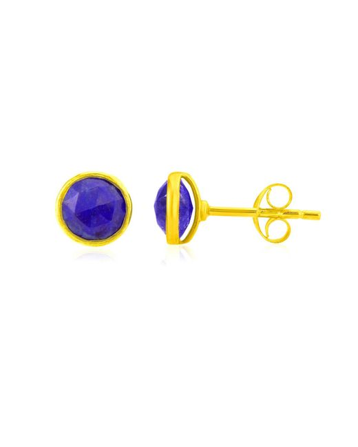 Auree Jewellery - Metallic Savanne Gold Vermeil & Lapis Lazuli Stud Earrings - Lyst