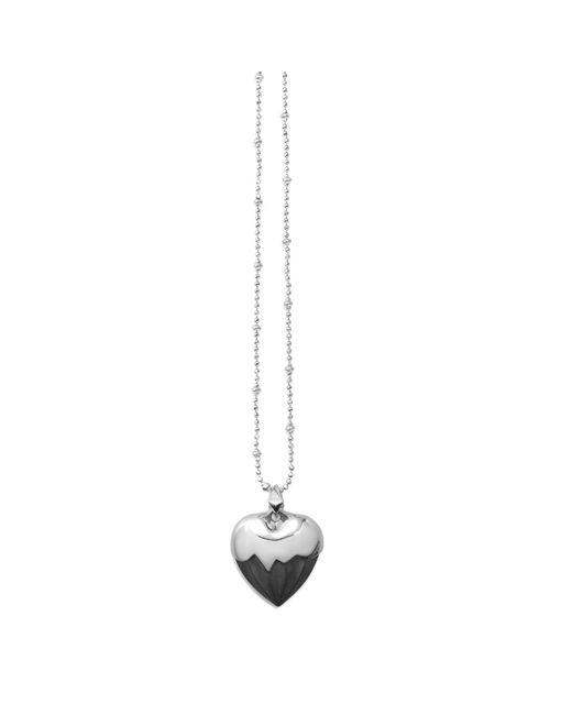 Kasun - Metallic Black Heart Pendant Silver - Lyst