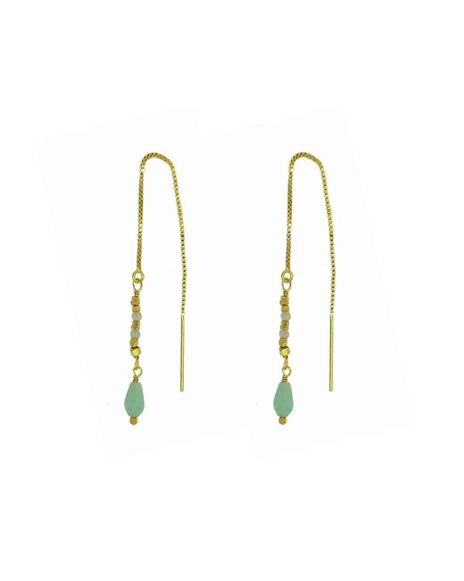 Yvonne Henderson Jewellery - Metallic Amazonite Pull Through Feature Drop Earrings - Lyst