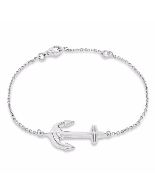 True Rocks - Metallic Anchor Bracelet Silver - Lyst