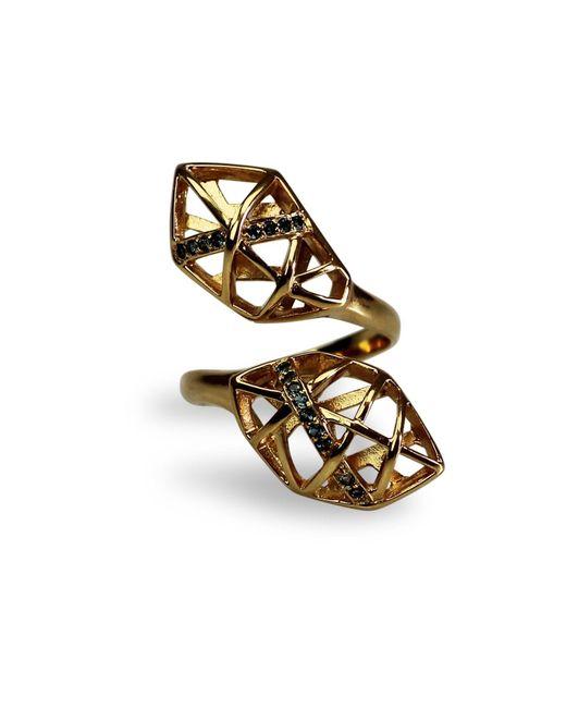 Bellus Domina - Metallic Topaz Helix Shaped Ring - Lyst