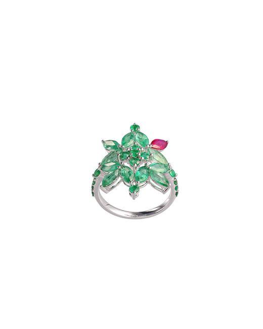 Joana Salazar | Multicolor Emerald Blossom Ring | Lyst