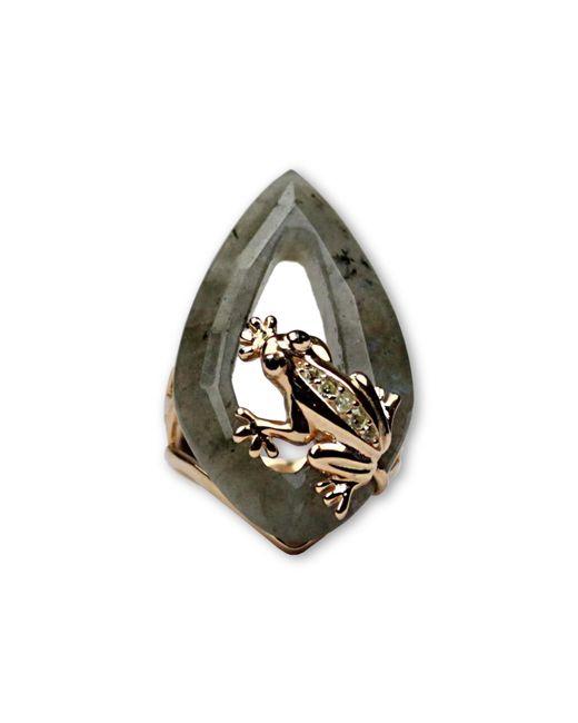 Bellus Domina - Metallic Labradorite Frog Ring - Lyst