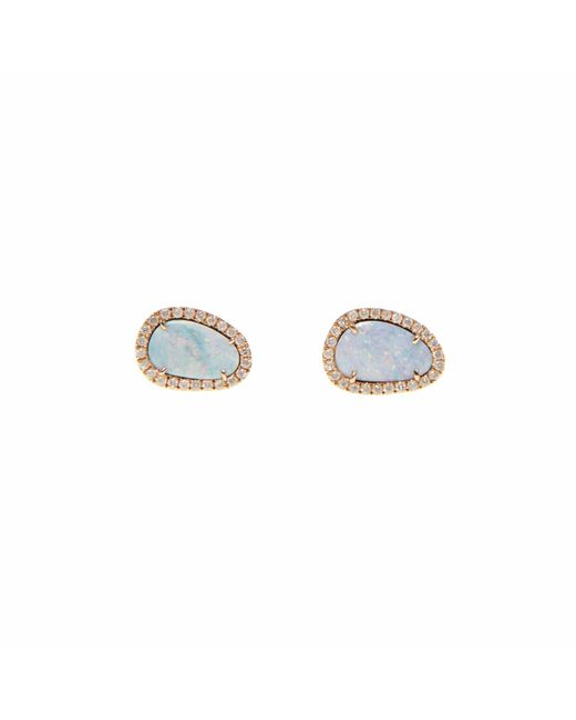 Ri Noor - Multicolor White Opal Slice & Diamond Earrings - Lyst