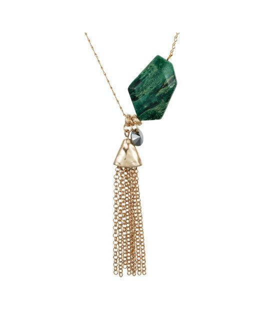 Nadia Minkoff - Metallic Semi Precious Nugget Necklace Malachite Gold - Lyst