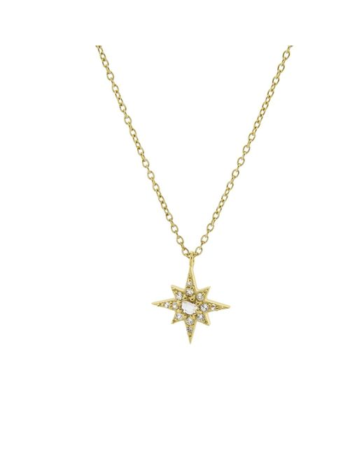 Monarc Jewellery - Metallic Starburst Necklace Gold Vermeil & White Topaz - Lyst