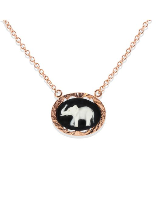 Vintouch Italy - Multicolor Lucky Elephant Cameo Necklace - Lyst