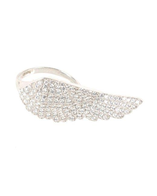 Latelita London - Metallic Angel Wing Ring Silver - Lyst