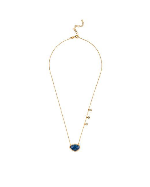 Latelita London Sofia Lapis Lazuli Gemstone Necklace Gold gI5R7f