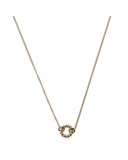 Isabel Lennse | Metallic Extra Small Twisted Circle Gold Necklace | Lyst