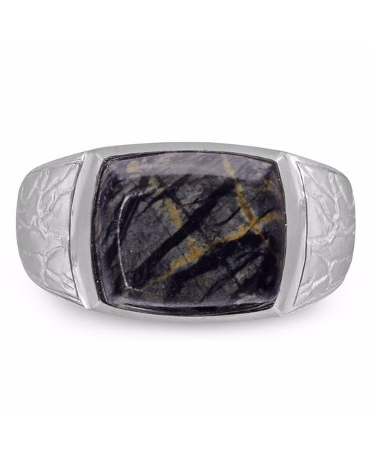 LMJ | Gray Grey Picture Jasper Stone Ring for Men | Lyst
