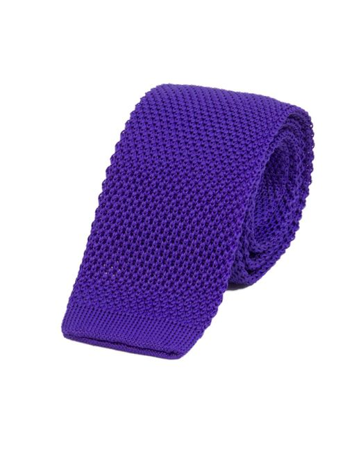 40 Colori - Royal Blue Solid Silk Knitted Tie for Men - Lyst