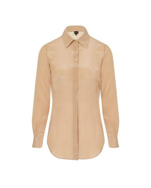 Sophie Cameron Davies Natural Beige Classic Silk Shirt
