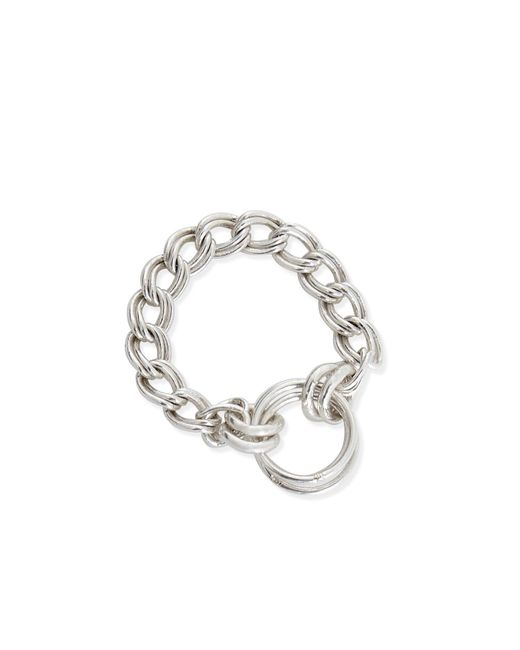 Alison Fern Jewellery | Metallic Lucy-lou Silver Chain Pinky Ring | Lyst