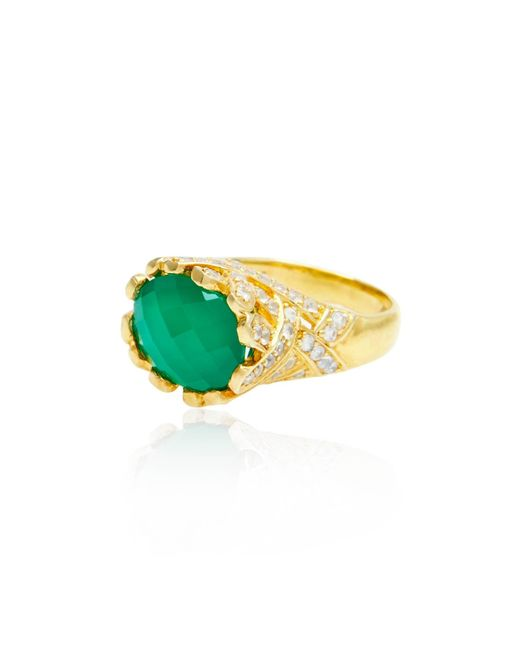 Alexandra Alberta | Green Heliconia Ring | Lyst