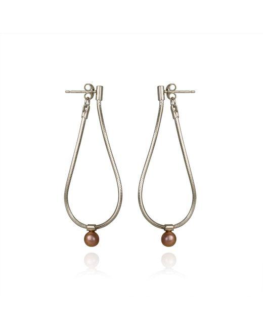 Cara Tonkin | Metallic Orbit Loop Drop Earrings Silver | Lyst