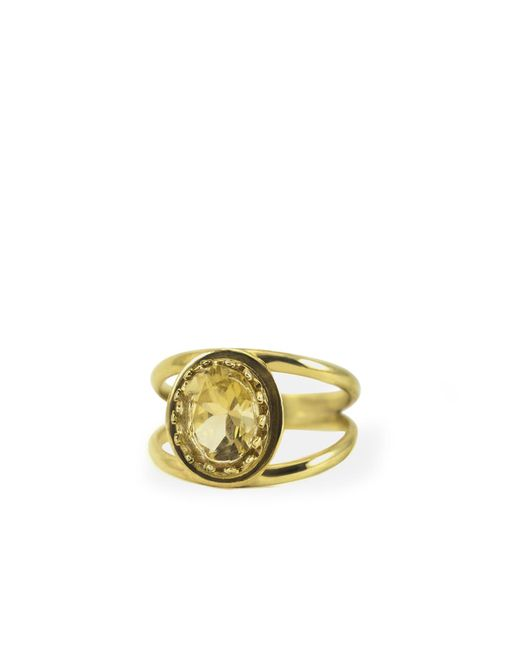 Vintouch Italy - Multicolor Dual Yellow Topaz Ring - Lyst