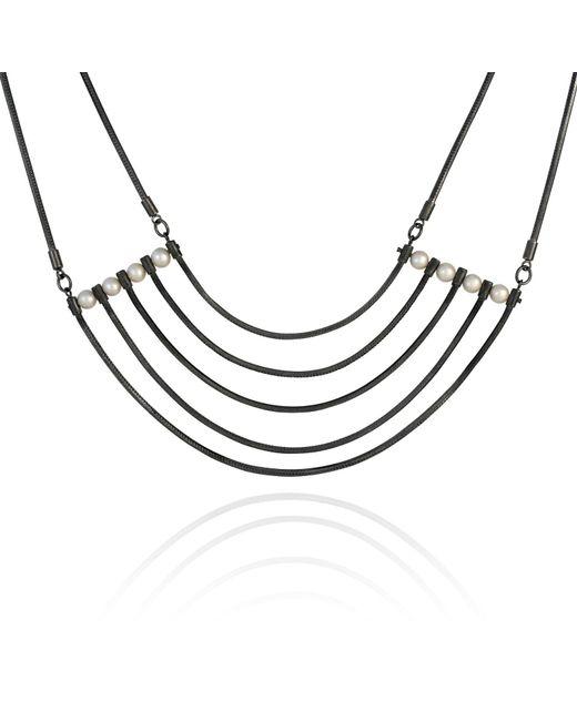 Cara Tonkin   Black Orbit Cosmos Necklace Oxidised Silver   Lyst