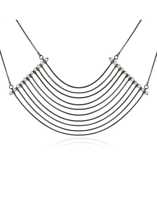 Cara Tonkin | Black Orbit Cosmos Large Necklace Oxidised Silver | Lyst