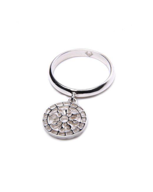 Puck Wanderlust   Metallic Silver Mini Moon Mandala Charm Ring   Lyst