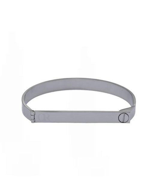 Opes Robur   Metallic Silver Screw On Love Bracelet   Lyst