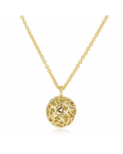 Sonal Bhaskaran - Metallic Svar Gold Sphere Necklace Yellow Cz - Lyst