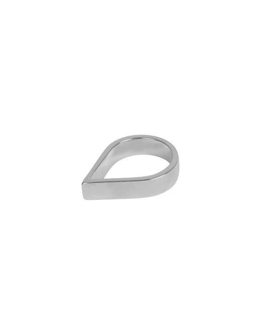 Matthew Calvin - Metallic Wide Point Ring Silver - Lyst